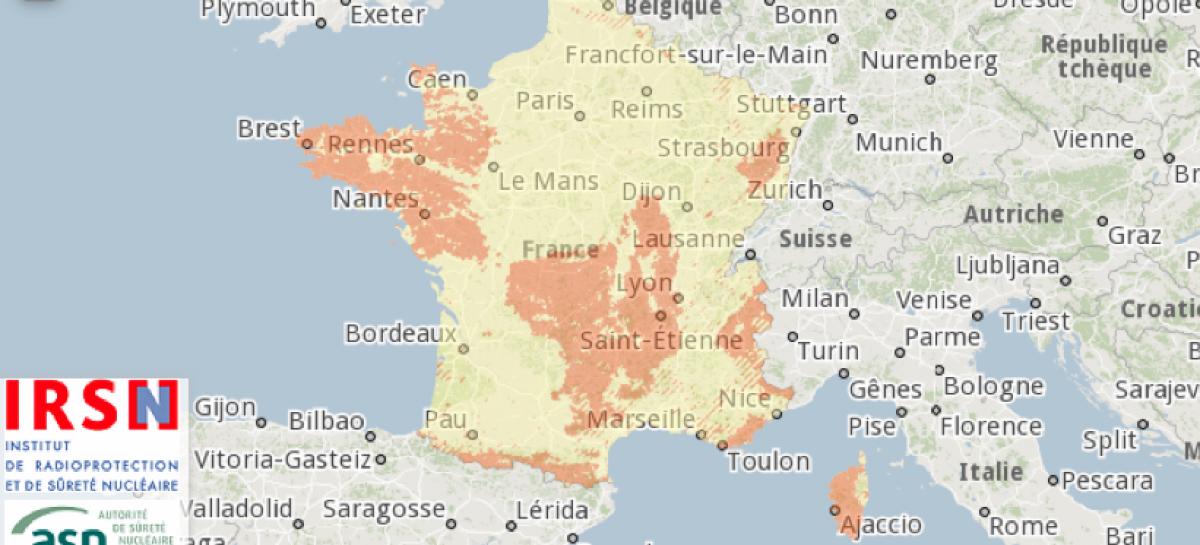 La cartographie du radon définie par arrêté
