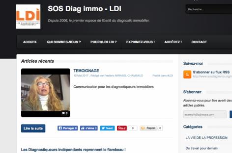 Le blog SOS Diagimmo repris par l'association LDI