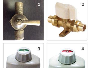 Identifier les différents robinets de gaz